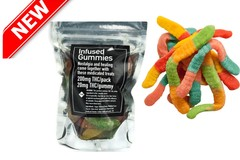 Infused Gummies Pack has 10 gummies (200mg THC total)